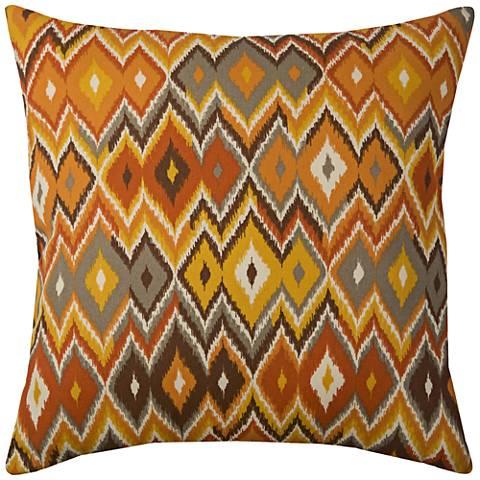 "Pompeii Multi-Color Ikat Chevron 22"" Square Outdoor Pillow"