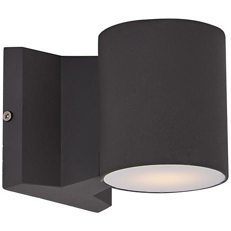 """Lightray 4"""" High Cylindrical Bronze LED Outdoor Wall Light"""