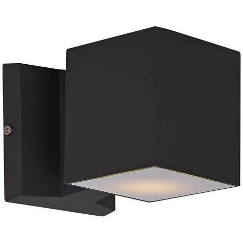 "Maxim Lightray 4"" High Square Bronze LED Outdoor Wall Light"