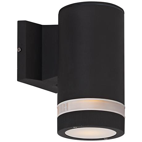 """Lightray 8"""" High Cylindrical Bronze LED Outdoor Wall Light"""