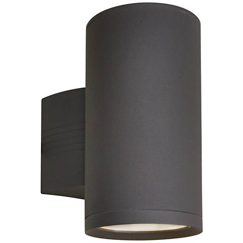 "Lightray 9 1/4""H Cylindrical Bronze LED Outdoor Wall Light"