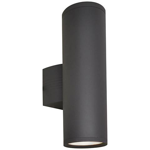 "Lightray 15 3/4""H Cylindrical Bronze LED Outdoor Wall Light"