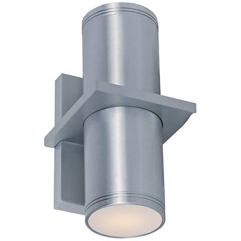 "Lightray 10 1/4""H Brushed Aluminum LED Outdoor Wall Light"