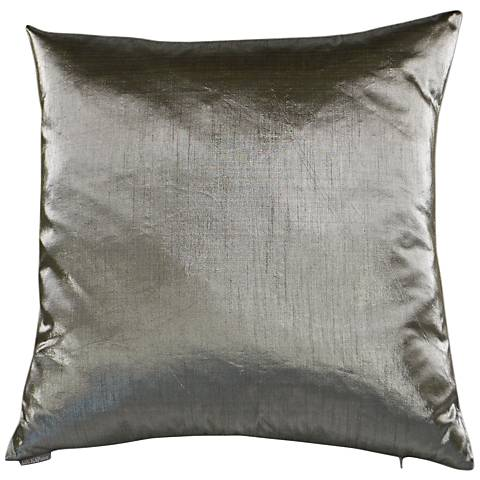 "Metaux Pewter 24"" Square Decorative Throw Pillow"