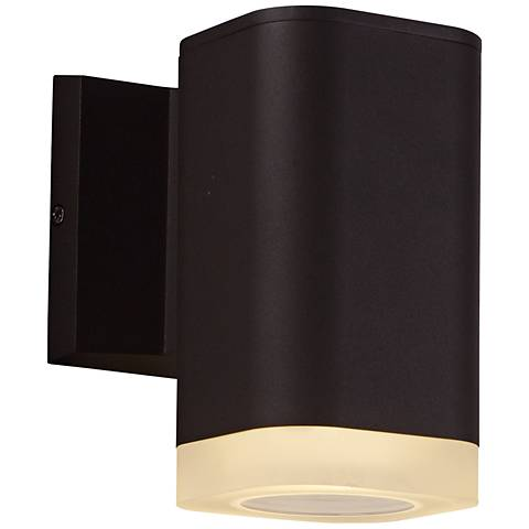 "Lightray 6 3/4"" High Square Bronze LED Outdoor Wall Light"