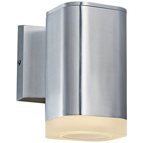 """Lightray 6 3/4"""" High Square Aluminum LED Outdoor Wall Light"""