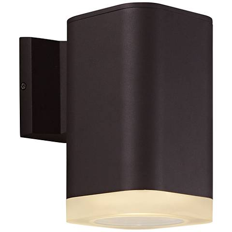 "Maxim Lightray 8 1/4""H Square Bronze LED Outdoor Wall Light"