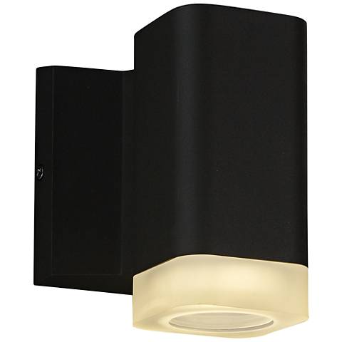 "Maxim Lightray 5 1/4""H Square Bronze LED Outdoor Wall Light"