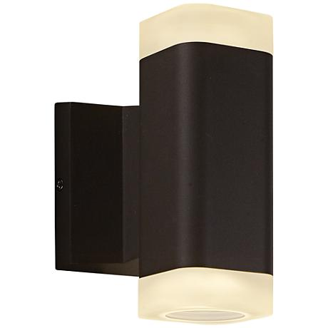 """Lightray 6 3/4"""" High Square Bronze 2-LED Outdoor Wall Light"""