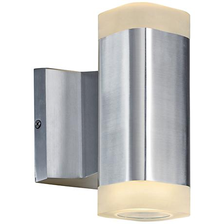 """Lightray 6 3/4""""H Square Aluminum 2-LED Outdoor Wall Light"""