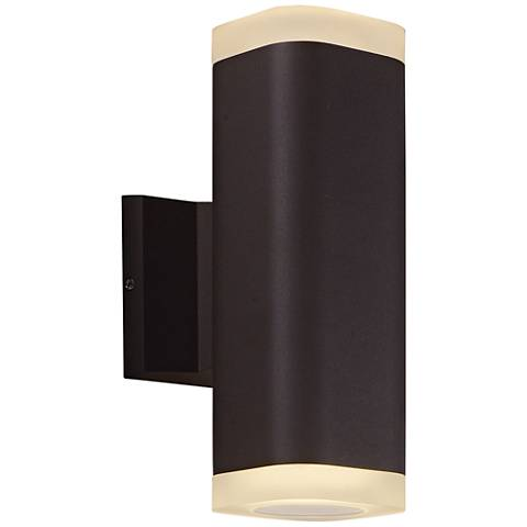 """Lightray 10 1/4"""" High Square Bronze LED Outdoor Wall Light"""