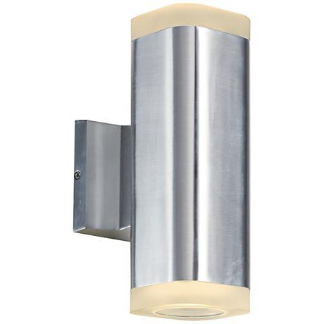 """Lightray 10 1/4"""" High Square Aluminum LED Outdoor Wall Light"""
