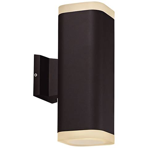 "Maxim Lightray 13"" High Square Bronze LED Outdoor Wall Light"