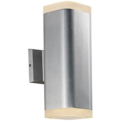 "Maxim Lightray 13""H Square Aluminum LED Outdoor Wall Light"
