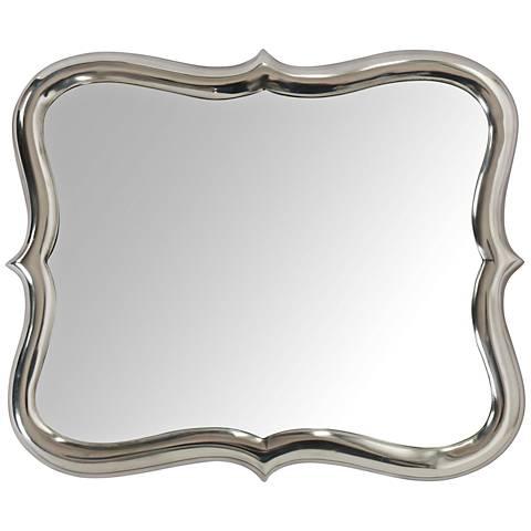 """Winsford Chrome Plated 14""""x17"""" Aluminum Wall Mirror"""