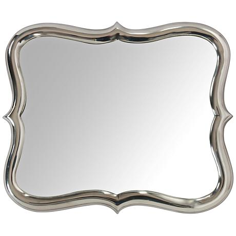 "Winsford Chrome Plated 14""x17"" Aluminum Wall Mirror"