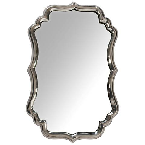 "Runcorn Chrome Plated 15""x23"" Aluminum Wall Mirror"