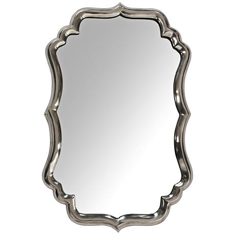 "Runcorn Chrome Plated 15""x23"" Aluminum Wall Mirror"