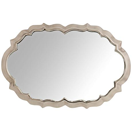 "Cheshire High Shine 14""x22"" Aluminum Wall Mirror"