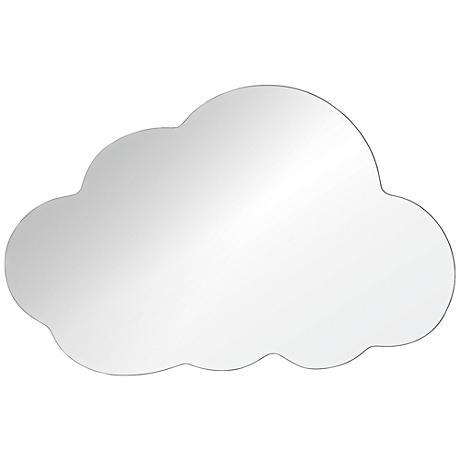 "Snowdrop 30""x48"" Cloud Wall Mirror"
