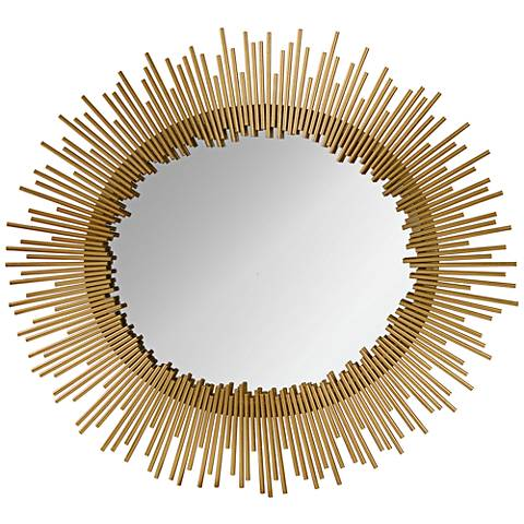 "Orwell Gold Leaf 32""x35"" Sunburst Wall Mirror"