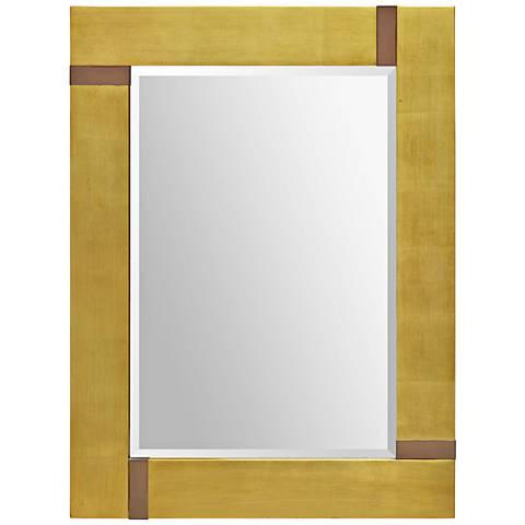"""Marilyn Gold Leaf Beveled 40""""x30"""" Wall Mirror"""