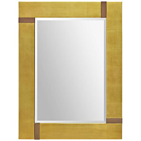 "Marilyn Gold Leaf Beveled 40""x30"" Wall Mirror"