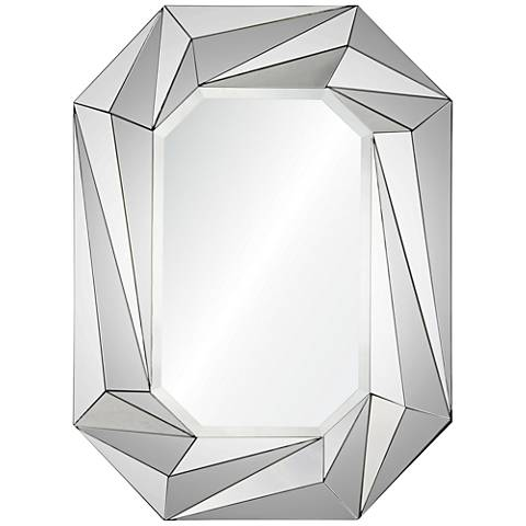 "Lowell Prism Beveled 28""x36"" Wall Mirror"