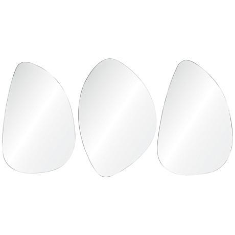 """Stockdale Frameless 24""""x36"""" Wall Mirror Set of 3"""