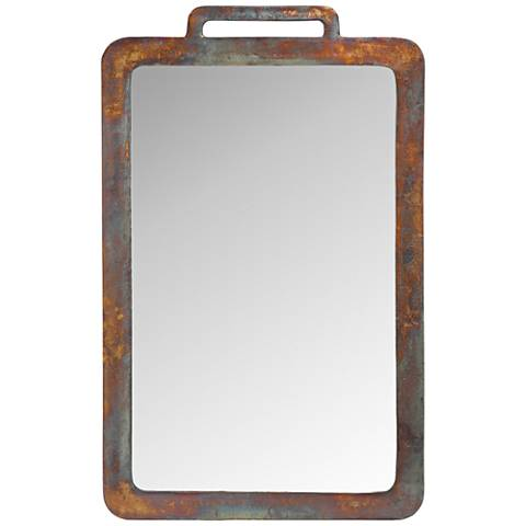 "Carlin Distressed Copper 29""x39"" Rectangular Wall Mirror"
