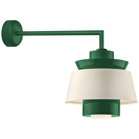 "RLM Aero 15""H Hunter Green LED Outdoor Wall Light"
