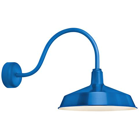 """RLM Standard 19"""" High Blue Outdoor Wall Light"""