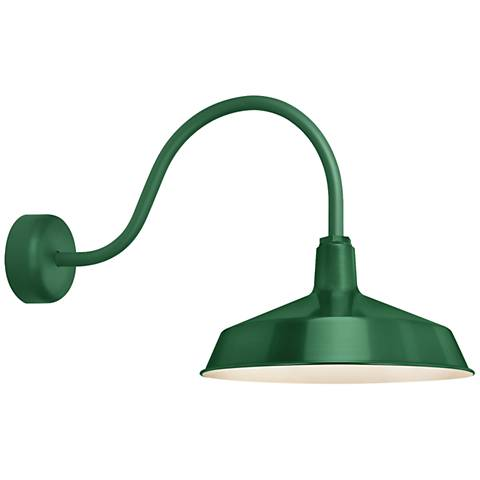 "RLM Standard 19""H Hunter Green Outdoor Wall Light"