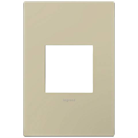 adorne® Ashen Tan 1-Gang Snap-On Wall Plate
