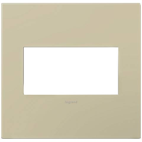 adorne® Ashen Tan 2-Gang Snap-On Wall Plate
