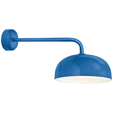 """RLM Dome 10"""" High Blue Outdoor Wall Light"""
