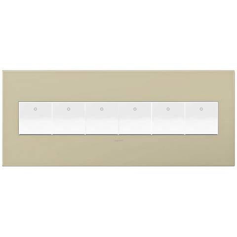 adorne Ashen Tan 6-Gang Wall Plate w/ 6 Switches