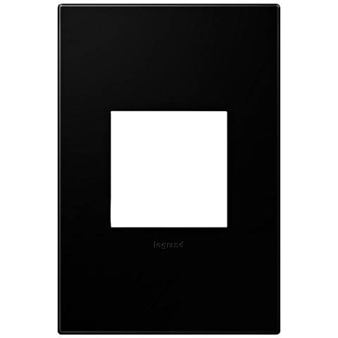 adorne® Black Ink 1-Gang Snap-On Wall Plate