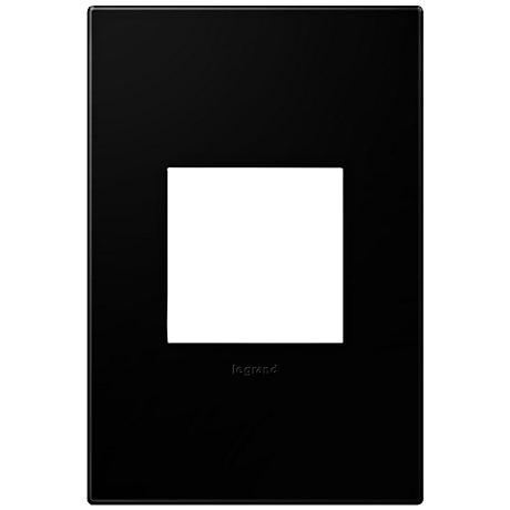adorne® Black Ink 1-Gang Snap-On Wall Plate