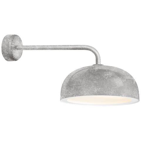 """RLM Dome 10"""" High Galvanized Outdoor Wall Light"""