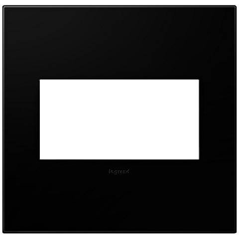 adorne® Black Ink 2-Gang Snap-On Wall Plate