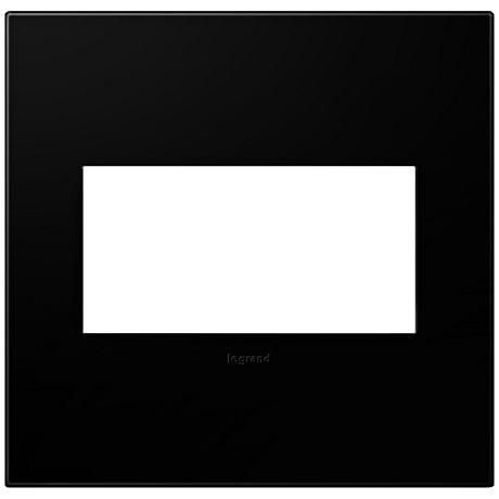 adorne® Black Ink 2-Gang Snap-On Wall Plate