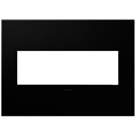 adorne® Black Ink 3-Gang Snap-On Wall Plate