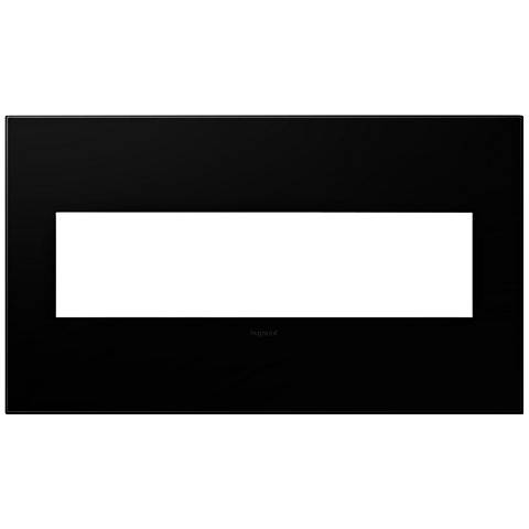 adorne® Black Ink 4-Gang Snap-On Wall Plate