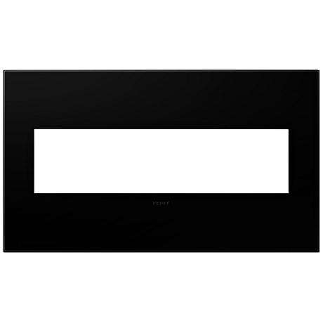 adorne® Black Ink 4-Gang Snap-On Wall Plate
