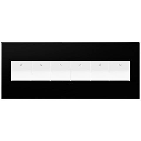 adorne® Black Ink 6-Gang Snap-On Wall Plate