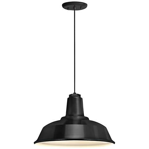 "RLM Heavy Duty 14"" Wide Black Outdoor Hanging Light"