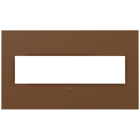 adorne® Cappuccino 4-Gang Snap-On Wall Plate
