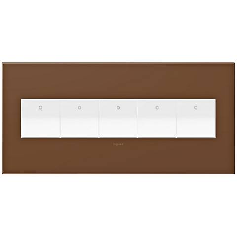 adorne Cappuccino 5-Gang Wall Plate w/ 5 Switches
