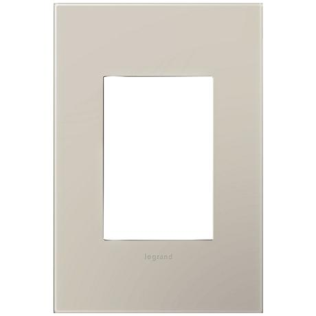 adorne® Greige 1-Gang 3-Module Snap-On Wall Plate